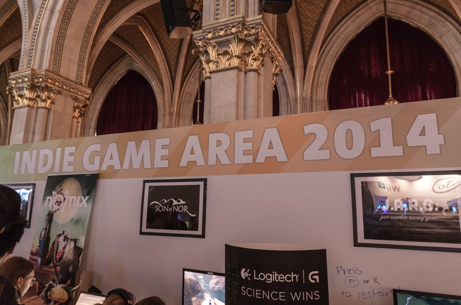 FM4 besorgte den Indie-Stand. 6 Spiele kleinerer österreichischer und deutscher Entwickler wurden gezeigt.