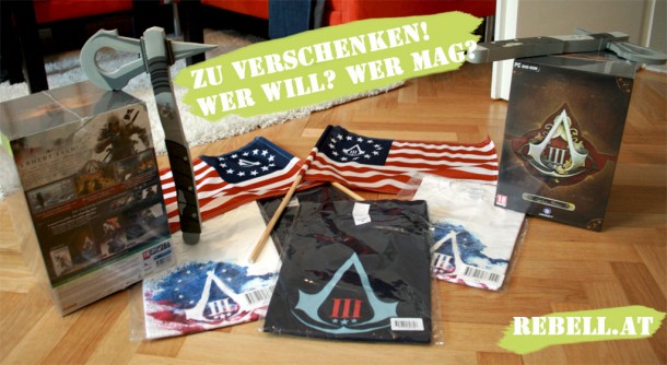 Rebell.at verlost coole Preise zu Assassin's Creed 3!