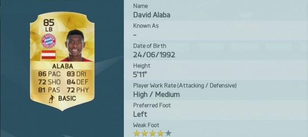 David Alaba, FIFA 16