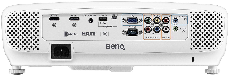 BenQ W1110: Rückseite mit Anschlüssen