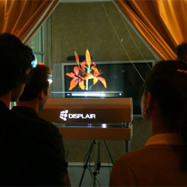 Displair - eine Art Multitouch-Hologramm-Screen.