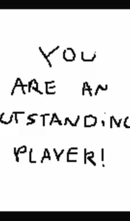 You are an outstanding player