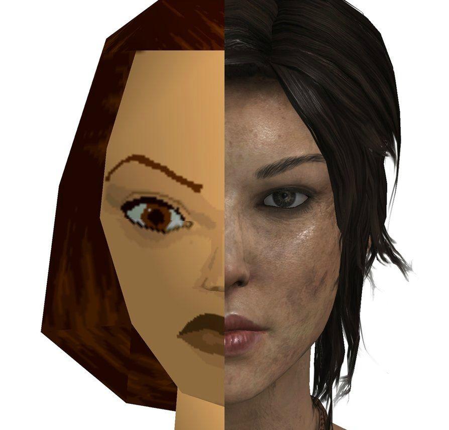 Lara Croft einst und heute