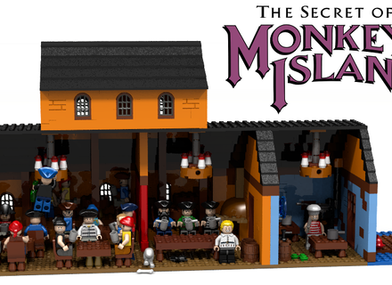 Monkey Island: Die Scumm-Bar als Lego