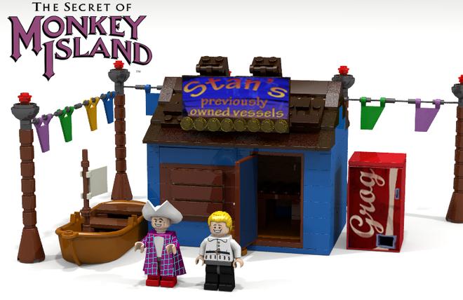 Monkey Island: Stans Shop als LEGO