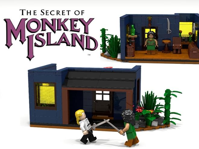 Monkey Island: Das Haus von Schwertmeisterin Carla als LEGO