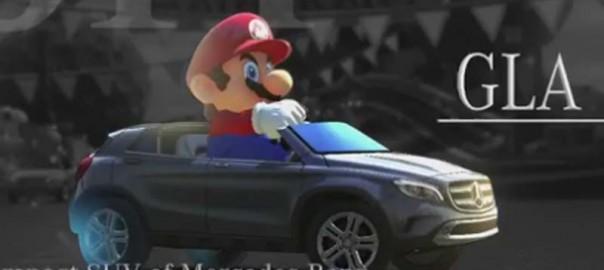 Mario in einem Mercedes