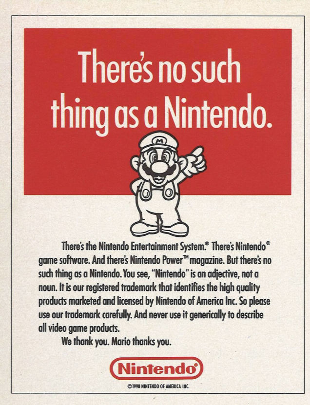 Nintendo is not a noun