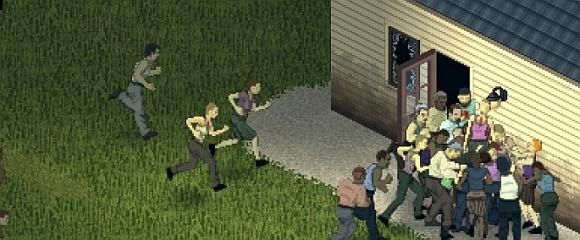 Sollte nicht passieren: Ein Haufen Untote stürmt das Gebäude (Foto: Indie Stone)