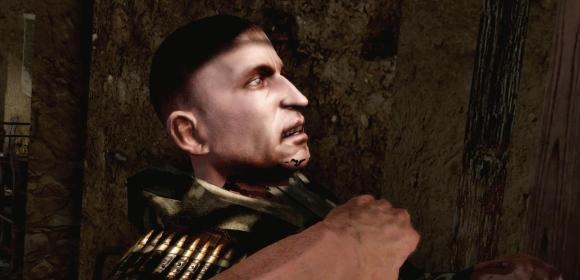 Nein, dieser böse Russe wird nicht an der Krawatte gezogen. In seinem Hals steckt ein Messer.