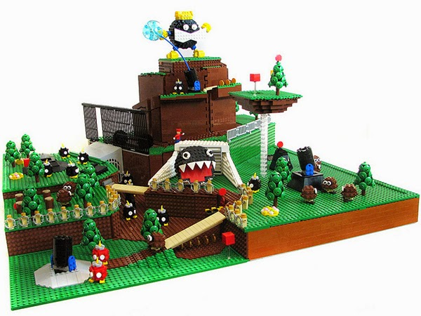 Super Mario 64 Level in Lego nachgebaut