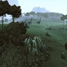 Vorsicht: The Stomping Land kann Spuren von Dinosauriern beinhalten.