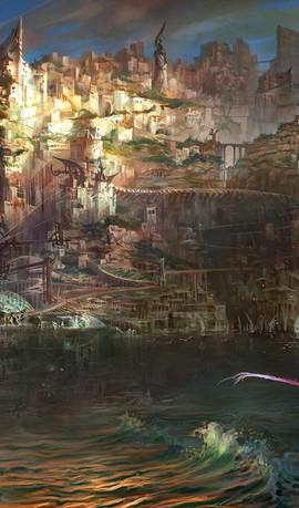 eine Konzeptzeichnung zu Torment: Tides of Numenera
